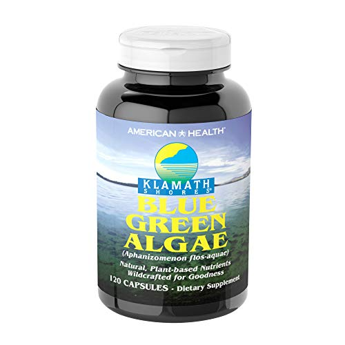 American Health Klamath Shores Blue Green Algae - 120 Capsules - Fresh Water Phytonutrient-Rich Algae Superfood Supplement - 120 Total Servings