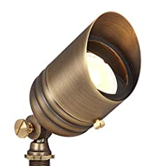 ALL-BRASS CONSTRUCTION - Constructed of a high-quality sheet brass body with cast brass knuckles and solid brass screws and knobs, this durable spotlight will not corrode or rust. Includes brass 360-degree rotatable glare guard. Also features a high-...