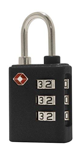 HAUPTSTADTKOFFER - Kofferschloss Vorhängeschloss Kombinationsschloss Zahlenschloss TSA-Schloss (Schwarz)