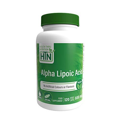 Alpha Lipoic Acid 600mg 120 Vegecaps - Vegan, Non-GMO, Gluten Free, Hypoallergenic