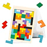 Ranslen Wooden Russian Blocks Puzzles for Kids Adults with a...