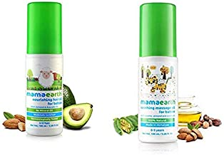 Mamaearth Nourishing Hair Oil for Babiesand Soothing Massage Oil for Babies (100 ml, 0-5 Yrs)