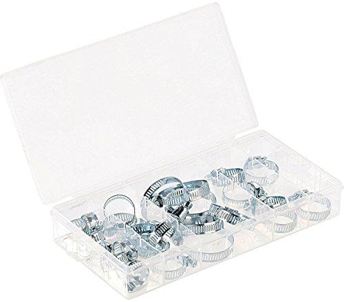 AGT Kleinteile Kästen: Sortimentskasten Schlauchschellen in 5 Größen, 26-teilig (Sortierkasten)