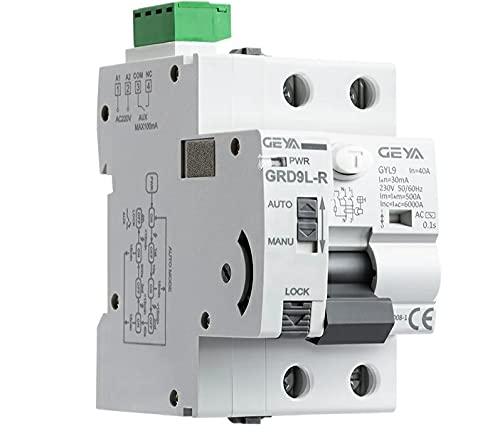 Interruptor diferencial auto rearmable automático con función RS485, 2P, 40A, 30mA, RCD