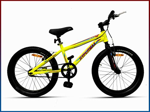 CAYA Bikes Hypermax 20 | Cycle for Kids | Bike for Boys and Girls 10-12years (20' inches Steel Frame, Bright Floro Green)