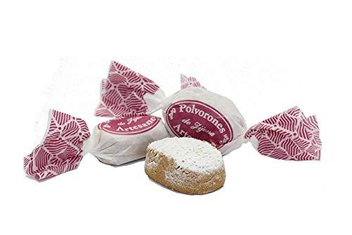 Polvorones de Almendra artesanos, 500 gramos – Turrones Fabián - Elaborados en Jijona. Los de toda la vida. ¿Cuál es nuestro Secreto? cerca del 50% es Almendra de primera calidad. Enrollados a mano, uno a uno. Producción Limitada (pueden agotarse) - Principales ingredientes: Almendra, harina de trigo, azúcar, manteca, canela y ralladura de limón - Elaborado y Enviado desde Jijona, Alicante.