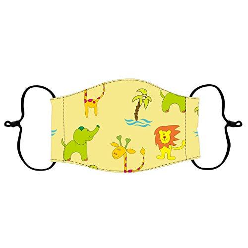 GONGHE Pañuelo lavable para el cuello con diseño de dibujos animados reutilizable, transpirable y con protección contra las sen-coveren