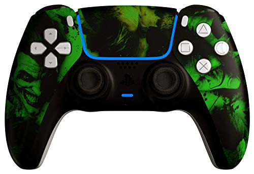AimControllers PS5 Custom DualSense Wireless Controller, PlayStation 5 Personalized Gamepad - Joker Green