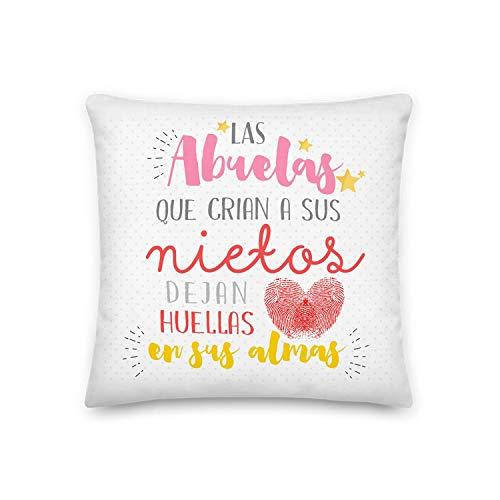 GS1 Honduras Kembilove Cojín para Abuela – Regalos Cojines Mujer Cumpleaños Originales – Regalos Originales Cojines con Mensaje Las Abuelitas Dejan Huella para Regalar el día de la Madre