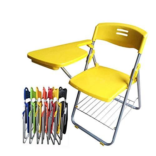 Dongbin Bewegliche Schnalle Stuhl mit Schreibtafel Bürositzung schriftlich L-förmigen Stuhl freier Installation Tisch und Stuhl integrierte Student Klappstuhl 42 * 46,5 * 80.5CM,V