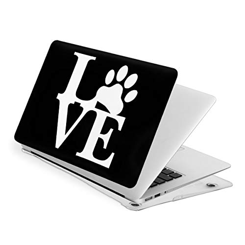 I Love Pet Paw MacBook Air 13 Inch Case Slim Fits with A1466 A1369 Hard Shell Protective Cover Compatible with Apple Mac Air 13