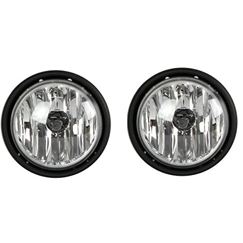 High Soar Replacement Fog lights Pair With Bulbs ‖ Passenger & Driver Side Fog Light Lamp for Freightliner Columbia 2000-2015(A Pair,White)