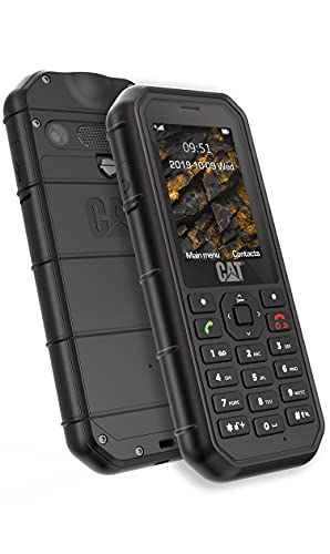 Bullitt CAT B26, Teléfono móvil rugerizado de 2.4'' (2G. 2MP, 8GB RAM, IP68, Bluetooth), Negro