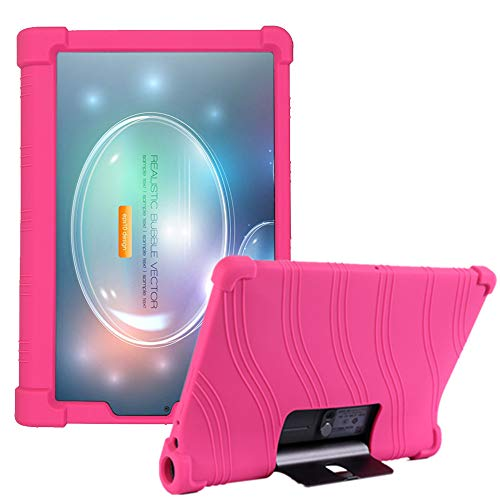 HminSen Funda para Lenovo Yoga Tab5 YT-X705F 2019 Smart Tablet Cover para Lenovo Yoga Tab 5 Kid Friendly Silicone Case (Rose)