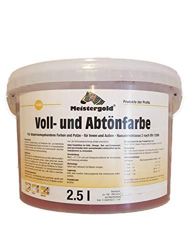 Meistergold Voll- und Abtönfarbe innen & außen Matt 2,5 L Farbwahl, Farbe:Rot