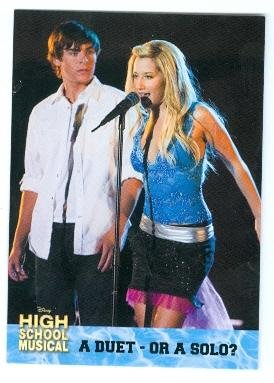Zac Efron and Ashley Tisdale trading card High School Musical 2006 Topps #36 Troy and Sharpay