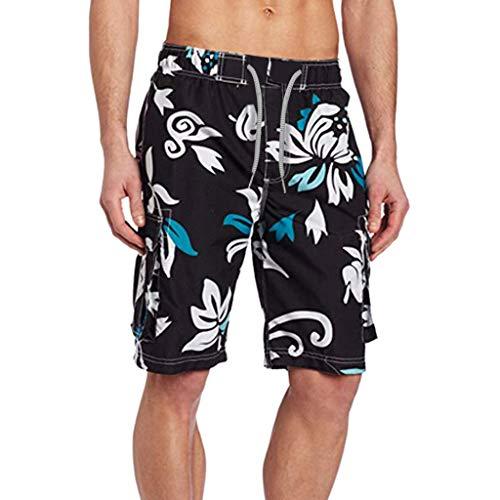 Uomo Pantaloni Maschi Travel Short Pantaloncini da Spiaggia Costumi da Bagno Elegante Retro Maschio...