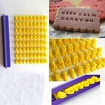 Alphabet Letter Number Biscuit Cookie Cutter Press Stamp Embosser Cake Mould