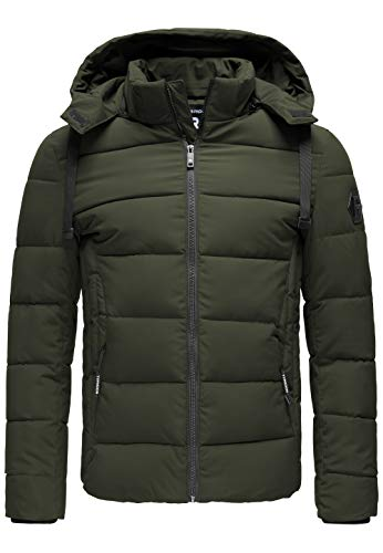 Red Bridge Herren Jacke Steppjacke Winterjacke Bubble M6077 Dunkel Grün S