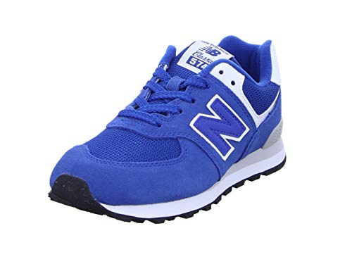 New Balance Unisex-Kinder 574 Sneaker, Blau (North Sea/White Es), 37 EU