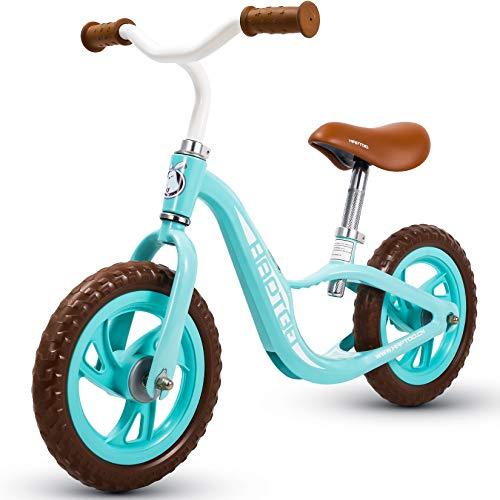 HAPTOO 12 Zoll Laufrad ab 2 Jahre Laufräder für Mädchen Junge, Hellblau
