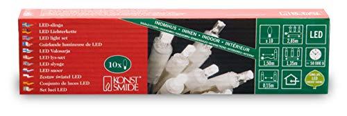Konstsmide 5300-103 - Guirnalda de bombillas LED (10 diodos blancos, 230 V,...