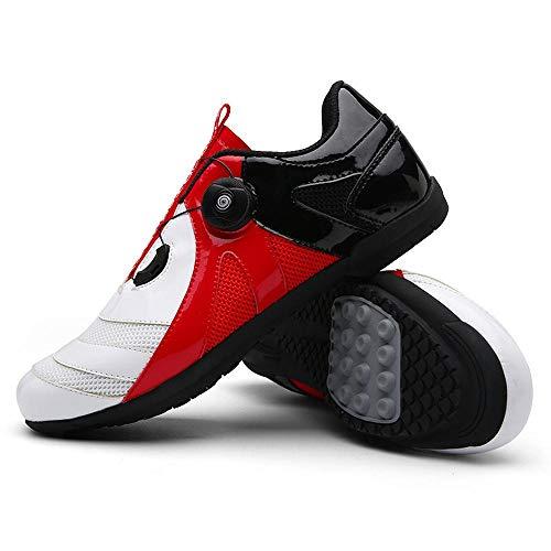 XTD - Zapatillas de ciclismo unisex para hombre (3 segundos para atar tus zapatos) para bicicleta antideslizantes y transpirables, para montar a caballo en MTB, zapatos de ciclismo E- UK 8.5