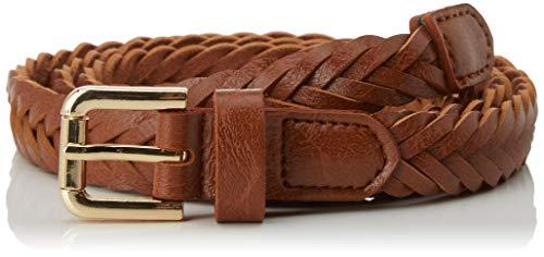 Springfield trnzado.estrecho-c/35 Cinturón, Beige (Tan 35), 85 (Tamaño del fabricante: 85) para Mujer
