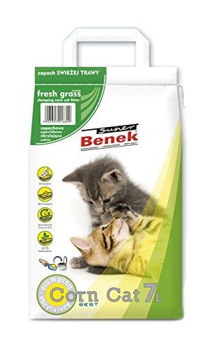 Super Benek Corn Cat Litière pour Chat Parfum Herbe fraîche