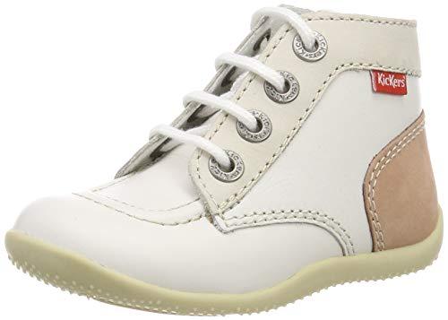 Kickers Unisex Baby Bonbon Stiefel, Weiß (Blanc Multi 33), 25 EU