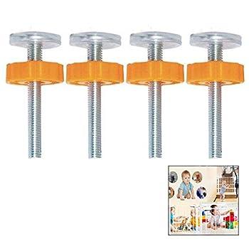 iwobi 4 Pièces Filetées de Broche Tiges Pression Barriere, pour Barrières D'escalier à Pression pour Bébés, Portails pour Chiens