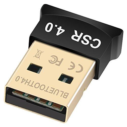 Yeung Qee - Adaptador USB Bluetooth 4.0 con Bluetooth y Receptor inalámbrico CSR4.0 Compatible con Windows 10, 8.1/8,7, Vista, XP, 32/64 bit para Escritorio, portátil, Ordenadores Black-1