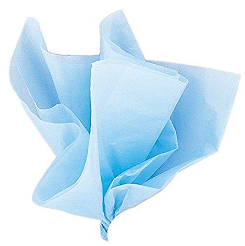 Unique Party-Paquete de 10 hojas de papel de seda, color azul claro, (6283)