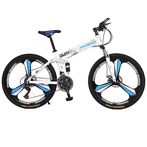 Zxb-shop Bicicleta Plegable Unisex Bicicleta Plegable, portátil de 26 Pulgadas Ruedas de Bicicletas portátil Carbike Estudiantes Adultos Ultra-Light