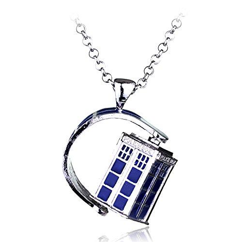 VAWAA Dr. Mysterious Police Box House Alloy Pendant Doctor Who Necklace Halloween Pendants Film Schmuck Xmas Gift
