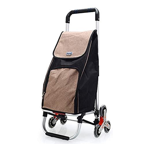 Selbstfahrender faltender Einkaufswagen Treppensteigwagen hält bis zu 35 kg Gewicht Trolley mit Rollen mit sechs Rädern 30MM Fett für Wäscherei Lebensmittel