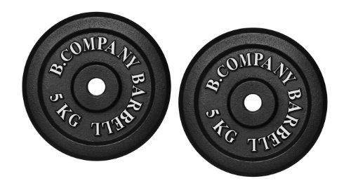Bad Company I Hantelscheiben aus Gusseisen I Hantel Gewichte I 10 Kg (2 x 5 Kg), 30/31 mm