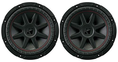 2) Kicker 700 Watt 10 Inch CompVR 2 Ohm SubwooferS Car Power Subs | 43CVR102