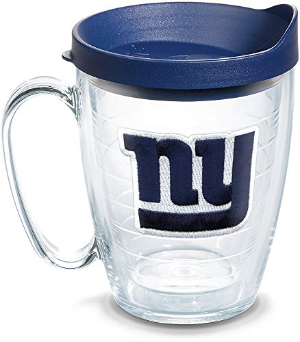 Tervis NFL New York Giants Primary Logo Tumbler with Emblem and Navy Lid 16oz Mug, Clear