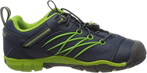 KEEN Unisex-Kinder Chandler CNX WP Trekking- & Wanderhalbschuhe, Blau (Dress Blues/Greenery Dress Blues/Greenery), 32/33 EU