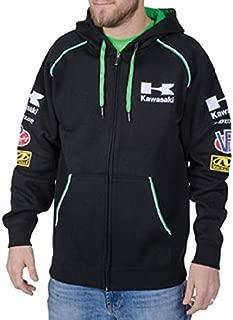 Kawasaki Classic Zip Hoody (Black) (Large)