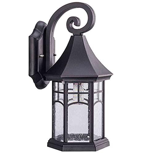 Lámpara De Pared De Estilo Antiguo E27, Apliques Impermeables Ip65, Lámpara De Exterior De Aluminio Anticorrosión Antioxidante, Lámpara De Pared De Vidrio Balcón Industrial