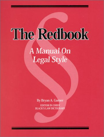 Download The Redbook: A Manual on Legal Style 0314258590
