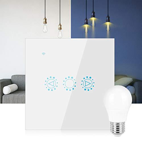 Wifi Dimmen Smart Switch Smart Timing Switch LED-Schalter Langlebige intelligente Jod-Wolfram-Lampen Halogenlampen(white, 90-250V)