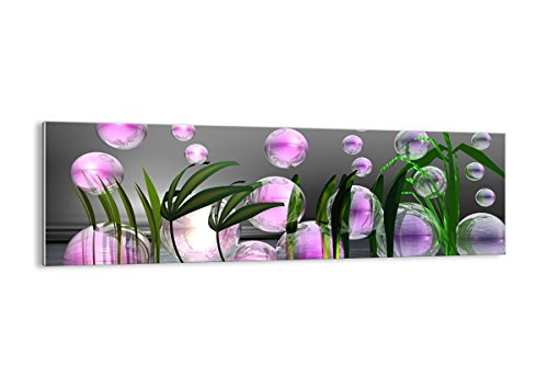 ARTTOR Quadro su Vetro - Elemento Unico - Computer Grafica Bolla - 160x50cm - Pronto da Appendere - Home Decor - Arte Digitale - Quadri Moderni in Vetro - Stampe da Parete - GAB160x50-2329