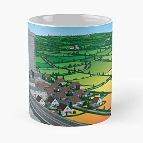 Lemon Jelly Lost Horizons Downtempo Electronica Airside Mug Coffee Mugs For Gifts - Il migliore regalo per tazza da caffè in ceramica da 11 once