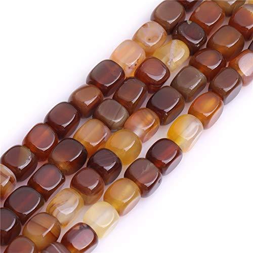 SHGBeads - Perles naturelles en cornaline - 8 x 8 mm - Pierre d'énergie - Pouvoir de guérison pour la fabrication de bijoux - 38,1 cm