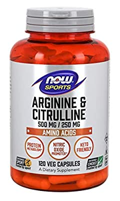 Now Foods Arginine & Citrulline - 120 vcaps, 0.165 kg