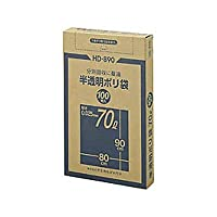 半透明ポリ袋 70L 100枚 品番:HD-890 注文番号:54395800 メーカー:ケミカルジャパン