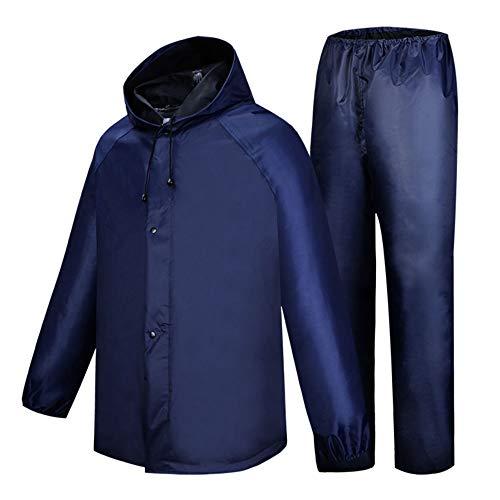 ZXLIFE@@ Regenkleding voor werkkleding, uniseks, waterdichte regenjas met elastisch design, ruimtebesparend L random color